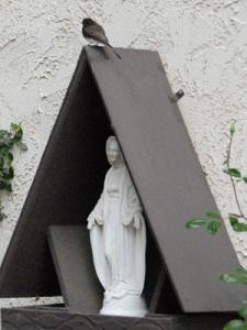 Roadside Shrine in the garden at Notre Dame Center