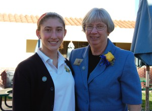 Sister Mary Rebekah Kennedy, a teacher at La Reina, and her student.