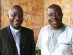 Father Godfrey Tuhairwe (left) and his brother Gerald Tuhairwe.